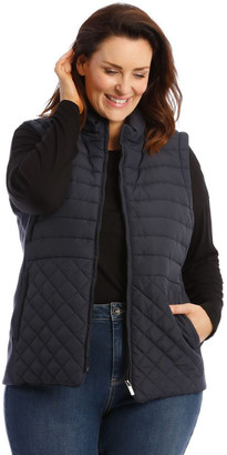 Regatta Quilted Rib Side Vest With Hood