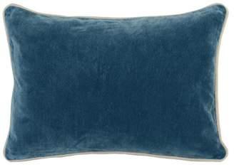 """Kosas Harriet Velvet 14""""x20"""" Rectangular Throw Pillow, Blue by Home"""
