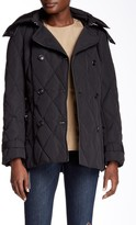 Cole Haan Faux Fur Trimmed Hooded Down Peacoat