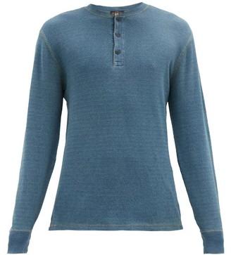 Ralph Lauren RRL Cotton-mesh Henley Shirt - Blue