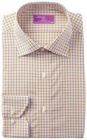 Lorenzo Uomo Check Trim Fit Dress Shirt