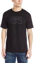 Crooks & Castles Men's Knit Crew T-Shirt - Castle Crksull
