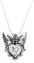 Winged CZ Heart Pendant
