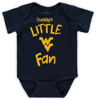 Outerstuff Infant Navy West Virginia Mountaineers Daddy's Little Fan Creeper