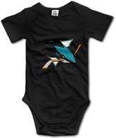 Enlove San Jose Sharks BABY Cartoon Short Sleeves Variety Baby Onesies Bodysuit For Babies