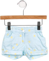 Oscar de la Renta Girls' Polka Dot High-Rise Shorts