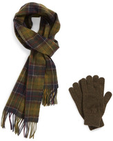 Barbour Scarf & Glove Gift Set