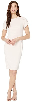 Calvin Klein Tulip Sleeve Sheath Dress (Blossom) Women's Dress