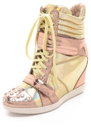 Boutique 9 Nevan Wedge Splatter Sneakers