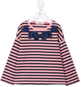 Familiar striped bow detail top
