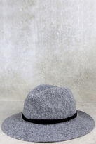 LuLu*s Stand by Me Heather Grey Fedora Hat