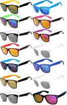 OWL Wholesale Bulk Colored Mirrored Lens Sunglasses 14 pairs
