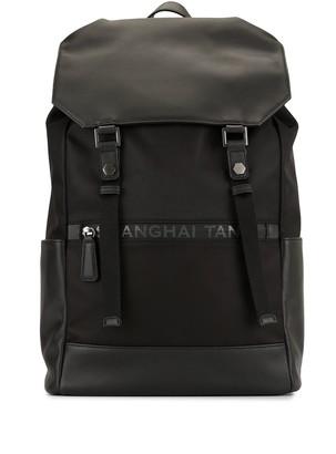 Shanghai Tang Drawstring Leather Backpack