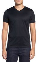 BOSS Men's Teal 14 Slim Fit Mercerized Cotton T-Shirt