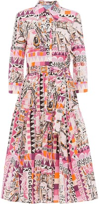 Prada Abstract Sketch-Print Dress