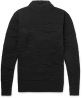 S.n.s. Herning - Polygon Textured-knit Wool Sweater