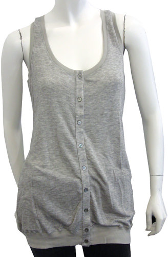 Elizabeth and James Superfine Tank In Grey