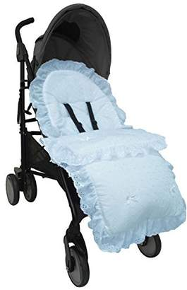Bugaboo Broderie Anglaise Footmuff/Cosy Toes Compatible with Donkey Buffalo - Blue