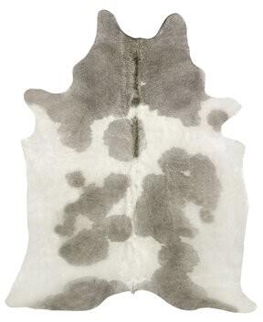 "Saddlemans Handmade Cowhide Gray/White Rug Rug Size: Novelty 6' x 7'6"""