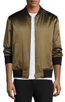 Ovadia & Sons Reversible Silk Bomber Jacket, Olive