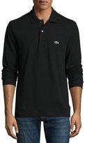 Lacoste Classic Long-Sleeve Piqué Polo Shirt, Black