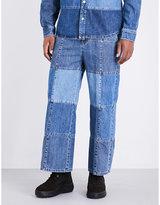 Mcq Alexander Mcqueen Wide-leg Mid-rise Patchwork Jeans