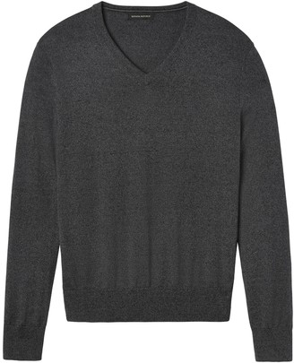 Banana Republic Silk Cotton Cashmere V-Neck Sweater