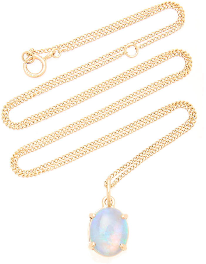 9e407420eaa41 Gold And Opal Necklace