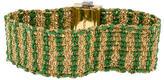 Carolina Bucci 18K Emerald & Diamond Woven Bracelet