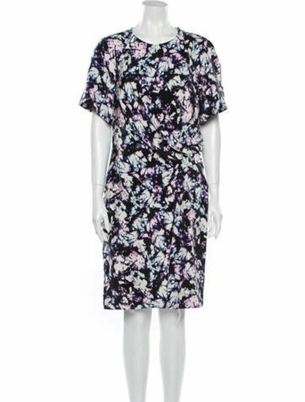 Alexander Wang Silk Knee-Length Dress Purple