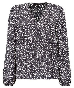 Dorothy Perkins Womens Only Monochrome Floral Print Shirt