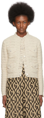 Gucci Off-White Crochet Cardigan