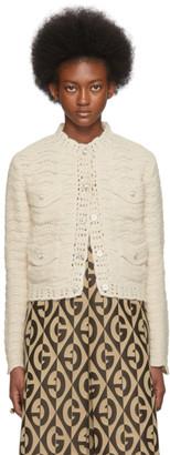 Gucci Off-White Crochet Cardigan