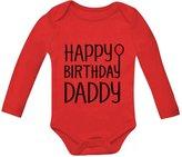 TeeStars Happy Birthday Daddy Cute Boy / Girl Bodysuit Dad's Gift Baby Long Sleeve Onesie 18M