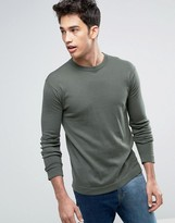 United Colors Of Benetton Jumper With Open Hem In Cotton Mix