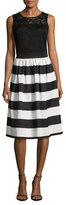 Alexia Admor Floral Striped Two For One Dress