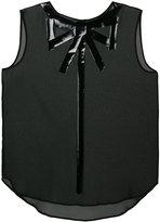 Moschino sleeveless bow illusion blouse