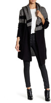 Sweet Romeo Colorblock Hoodie Coat (Plus Size)