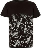 River Island Boys black skeleton fade print T-shirt