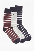 French Connection Maverick Mini Stripe Pack of 3 Socks