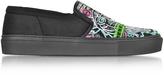 Kenzo Black Flyer Tiger Slip on Sneakers