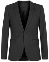 Topman Black Textured Ultra Skinny Fit Suit Jacket