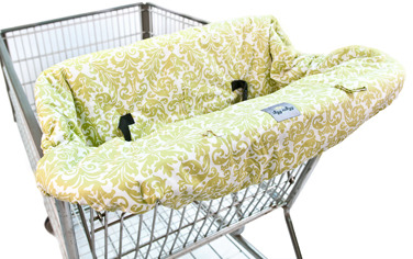 Bed Bath & Beyond Itzy Ritzy™ Ritzy Sitzy™ Shopping Cart & High Chair Cover - Avocado Damask