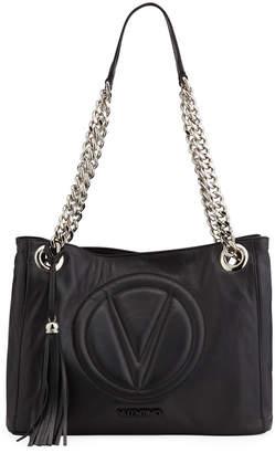 Mario Valentino Valentino By Luisa 2 Sauvage Leather Shoulder Tote Bag