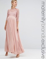 Queen Bee Lace Bodice Maxi Dress