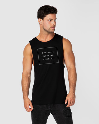 ONEBYONE - Men's Black Singlets - Squared Tank - Size One Size, S at The Iconic