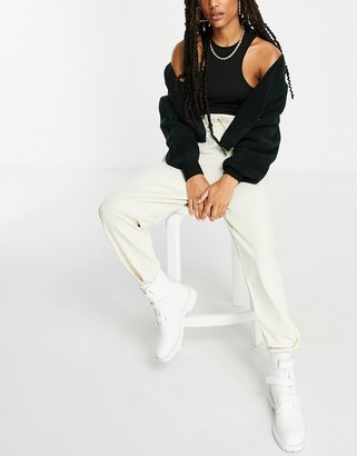 Hummel loose trackies in cream
