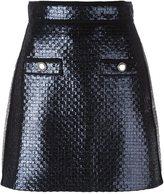 MSGM glitter effect a-line skirt