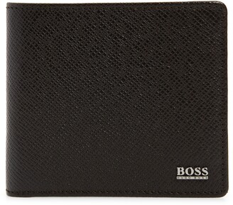 HUGO BOSS Signature 8 Card Bifold Leather Wallet