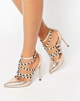 Asos PROTECTOR Stud Detail Caged Heels